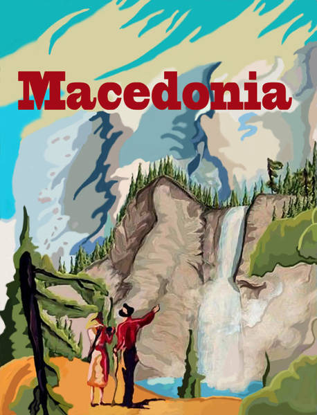 Hiking Digital Art - Macedonia by Long Shot