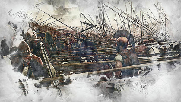 Painting - Macedonian Phalanx At War - 05 by Andrea Mazzocchetti