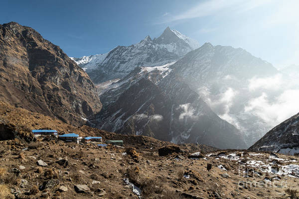 Photograph - Machhapuchhare Base Camp In Nepal by Didier Marti