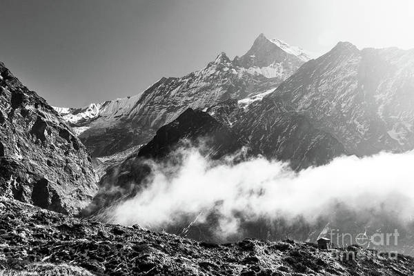 Photograph - Machhapuchhare  Moutain Peak In Himalayas, Nepal by Didier Marti