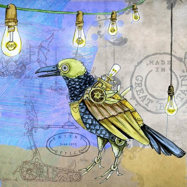 Wall Art - Painting - Machine Bird by ArtMarketJapan