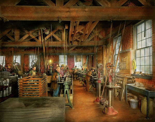 Photograph - Machinist - The Glazier Stove Company 1900 by Mike Savad