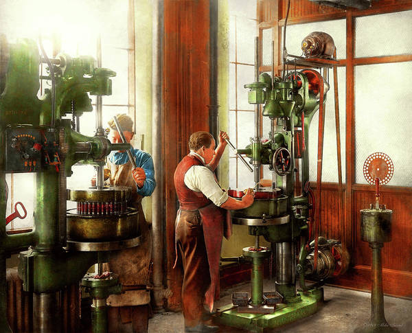 Photograph - Machinist - When Precision Matters 1919 by Mike Savad