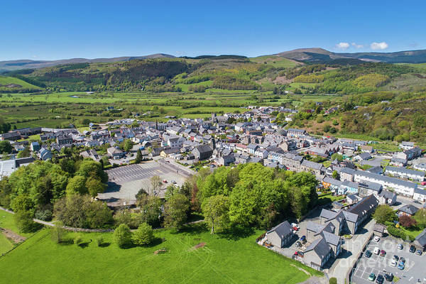 Photograph - Machynlleth From The Air by Keith Morris
