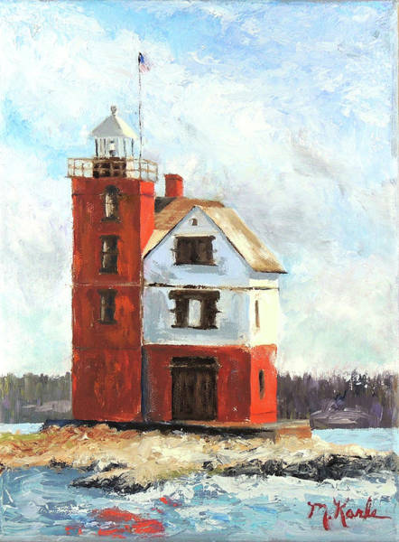 Painting - Mackinac Island Lighthouse by Marsha Karle