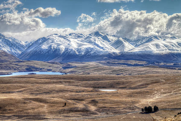 Lakes Region Photograph - Mackenzie Basin, South Island, New by Images By Ni-ree