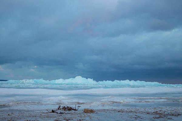Photograph - Mackinaw City Ice Formations 21618011 by Rick Veldman