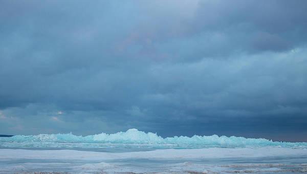 Photograph - Mackinaw City Ice Formations 21618012 by Rick Veldman