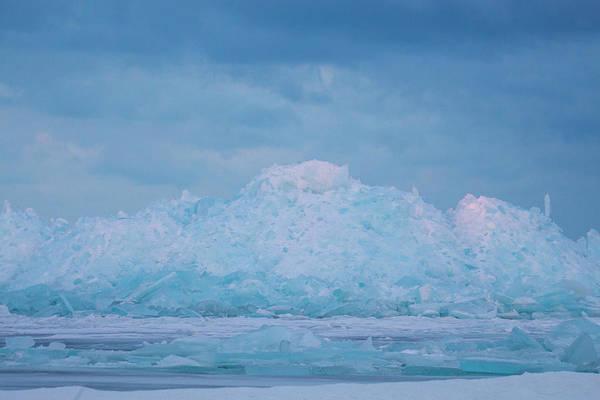 Photograph - Mackinaw City Ice Formations 2161802 by Rick Veldman