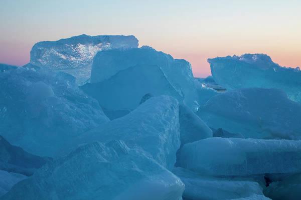 Photograph - Mackinaw City Ice Formations 2161804 by Rick Veldman