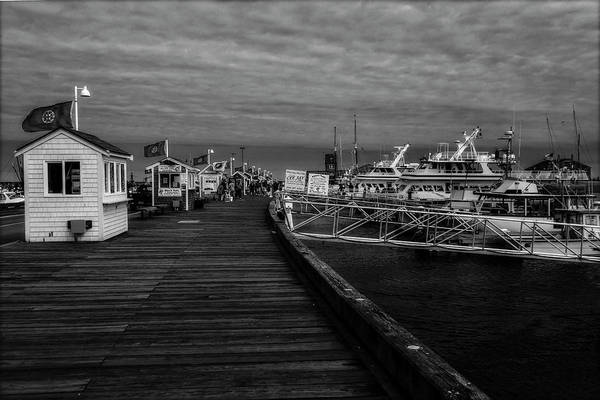 Photograph - Macmillan Wharf  Provincetown Bw by Susan Candelario
