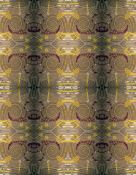 Digital Art - Macrame Spiral Nebula  Mirror 2 by Otto Rapp