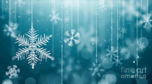 Flakes Wall Art - Digital Art - Macro Snowflake And Fallen Defocused by Phive