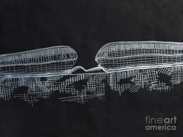 Nerves Drawing - Macular Hole Oct by Feyene Art