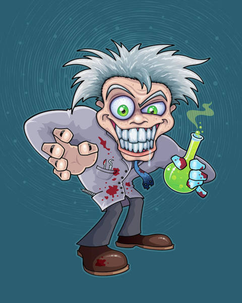 Liquid Digital Art - Mad Scientist by John Schwegel