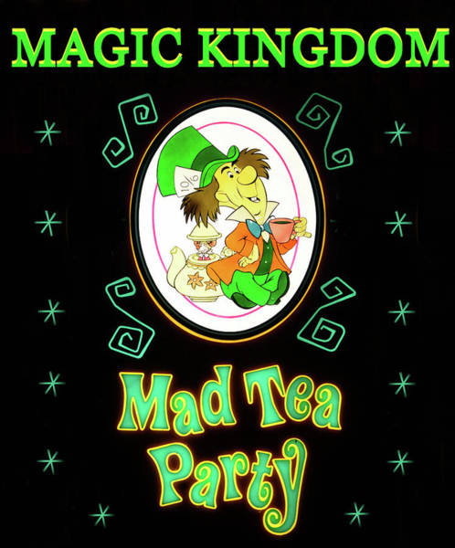 Wall Art - Mixed Media - Mad Tea Party Poster A by David Lee Thompson