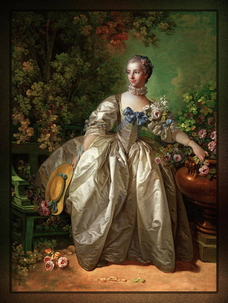 Painting - Madame Bergeret By Francois Boucher by Xzendor7