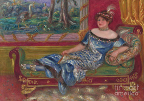 Wall Art - Painting - Madame De Galea A La Meridienne, 1912  by Pierre Auguste Renoir