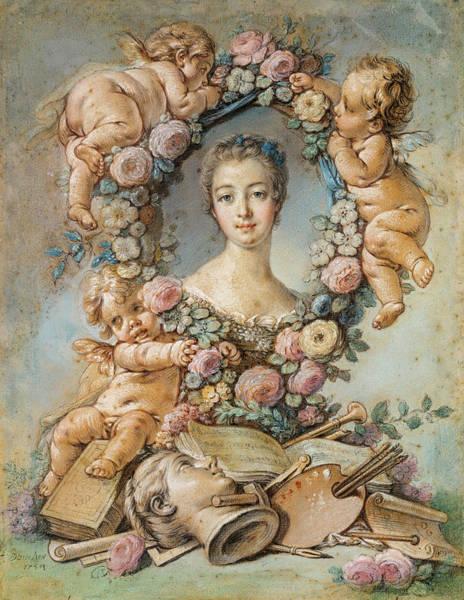 Wall Art - Painting - Madame De Pompadour, 1754 by Francois Boucher