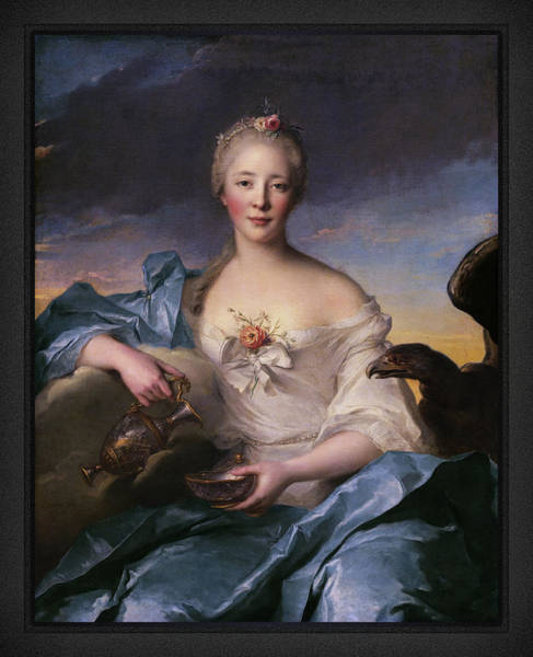 Painting - Madame Le Fevre De Caumartin As Hebe By Jean-marc Nattier by Xzendor7