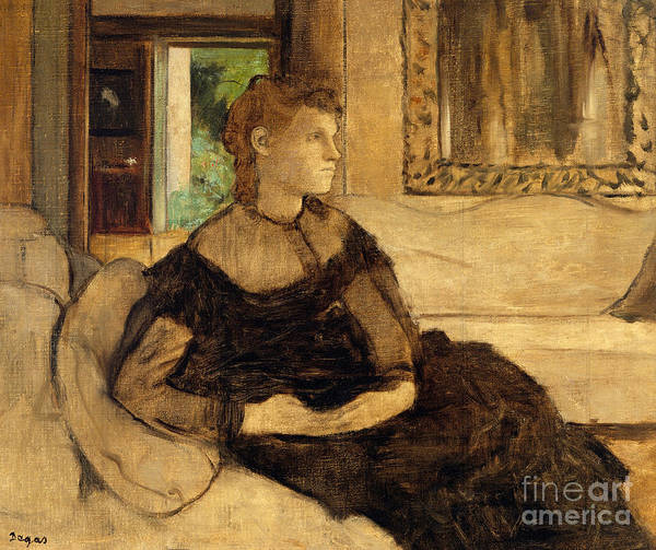 Wall Art - Painting - Madame Theodore Gobillard, 1869  by Edgar Degas