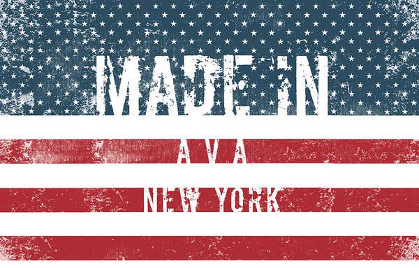 Wall Art - Digital Art - Made In Ava, New York #ava #new York by TintoDesigns