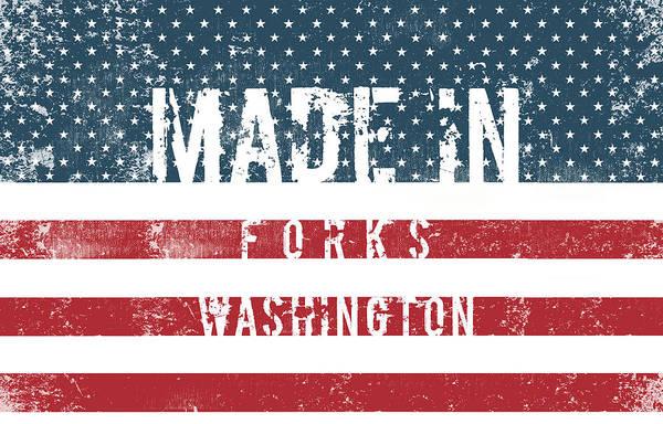 Fork Digital Art - Made In Forks, Washington #forks #washington by TintoDesigns