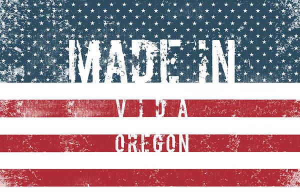 Vida Wall Art - Digital Art - Made In Vida, Oregon #vida #oregon by TintoDesigns