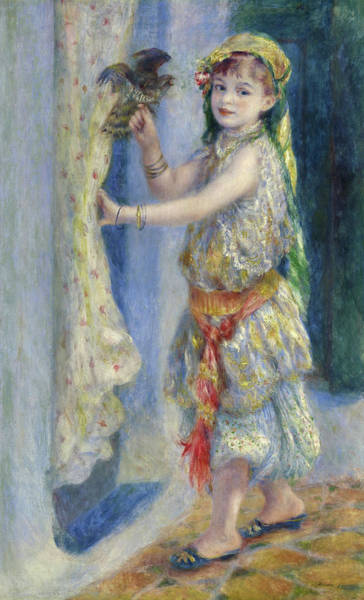 Child Actress Painting - Mademoiselle Fleury In Algerian Costume, 1882 by Pierre-Auguste Renoir