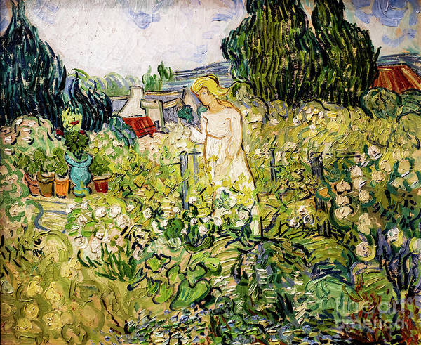 Painting - Mademoiselle Gachet In Her Garden by Vincent Van Gogh