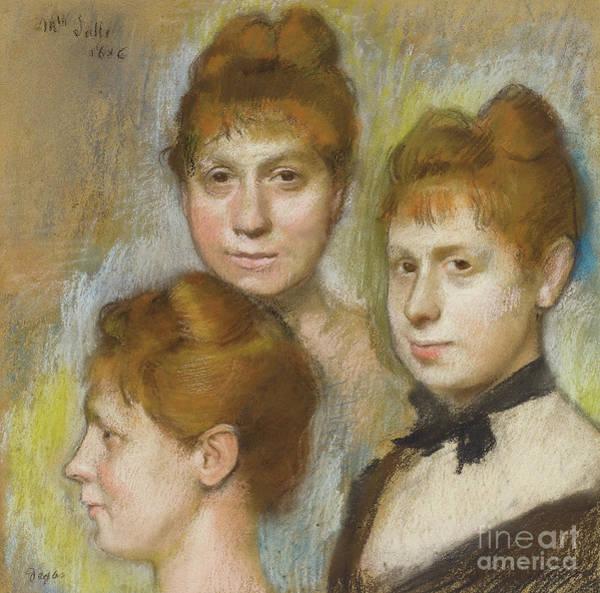 Wall Art - Pastel - Mademoiselle Salle, 1886  by Edgar Degas