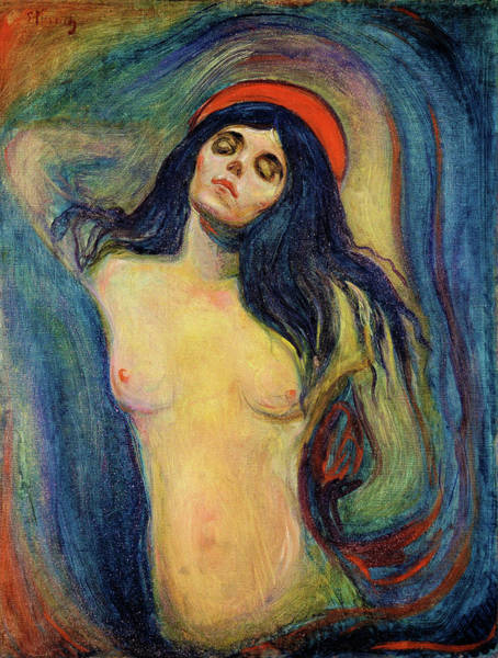 Wall Art - Painting - Madonna 1894 - Digital Remastered Edition by Edvard Munch