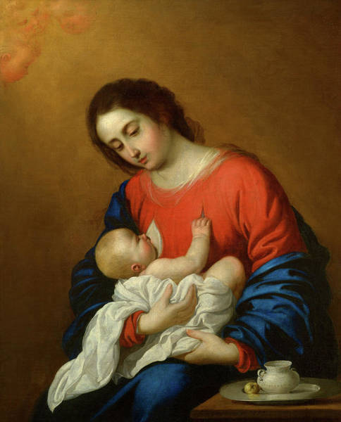 Wall Art - Painting - Madonna And Child, 1658 by Francisco de Zurbaran