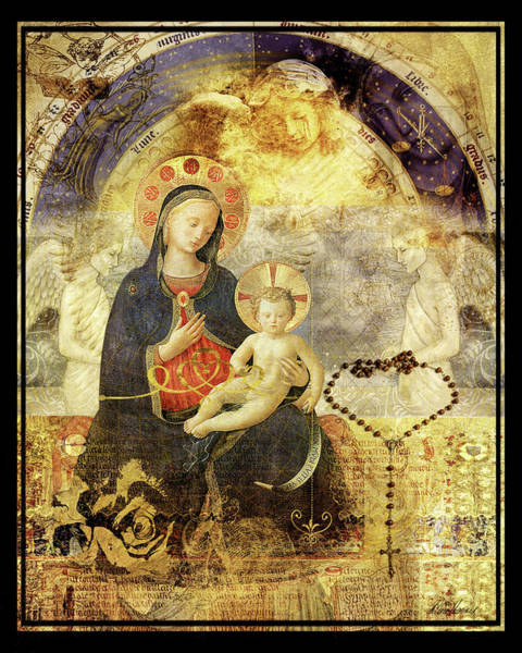Mixed Media - Madonna And Child by Diana Haronis