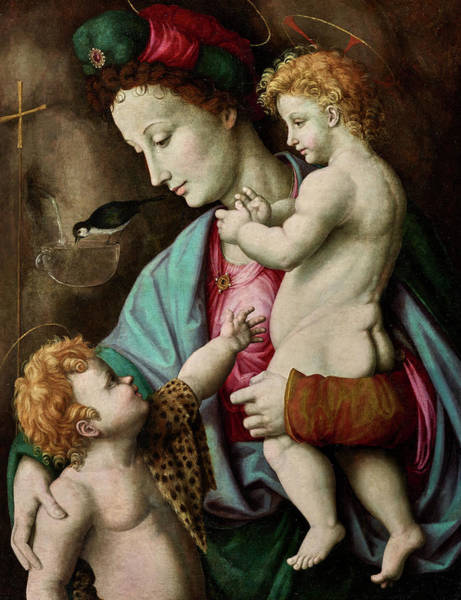 Wall Art - Painting - Madonna And Child With St John, 1525 by Francesco Bacchiacca