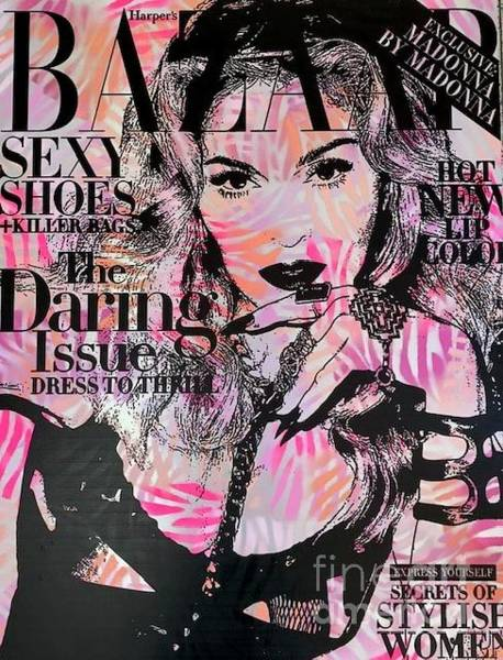 Streetart Mixed Media - Madonna by Diana Eger