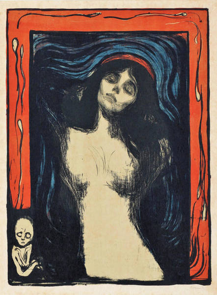 Wall Art - Painting - Madonna - Digital Remastered Edition by Edvard Munch