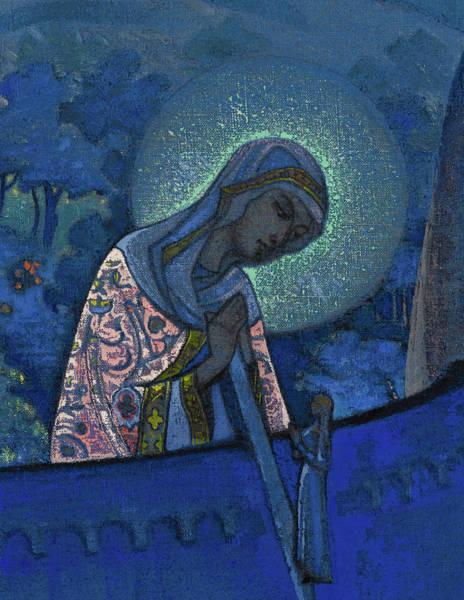 Wall Art - Painting - Madonna Laboris - Madonna by Nikolai Konstantinovich Roerich