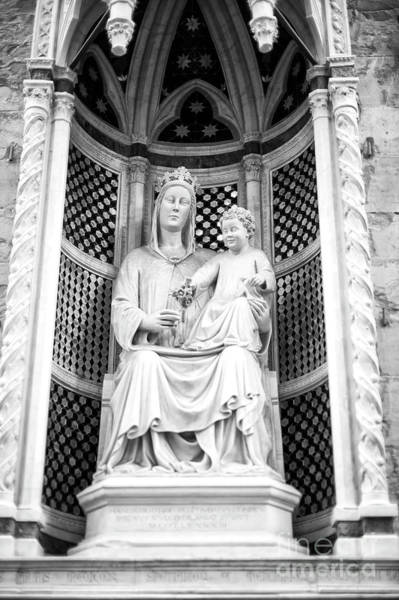 Photograph - Madonna Of The Rose At The Orsanmichele Florence by John Rizzuto