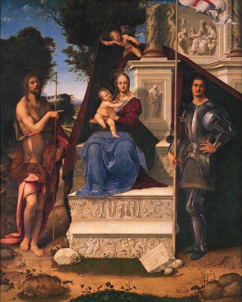 Cesare Painting - Madonna On The Throne Between The Saints 1514 254.6 X 205.7 San Francisco Museum Of Art by Cesare da Sesto