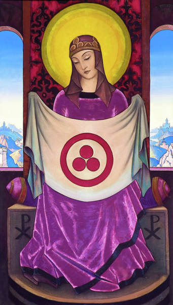 Wish Painting - Madonna Oriflamma - Digital Remastered Edition by Nicholas Roerich
