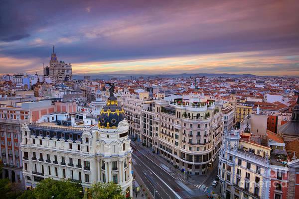 International Travel Photograph - Madrid. Cityscape Image Of Madrid by Rudy Balasko