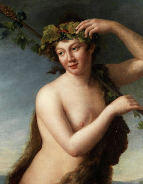 Frenzy Wall Art - Painting - Maenad by Painter of the 18th century