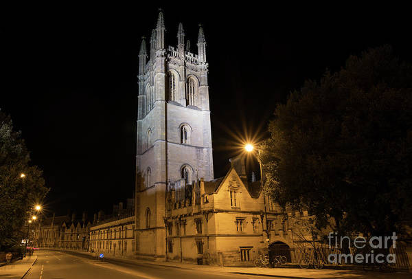 Wall Art - Photograph - Magdalen College At Night by Tim Gainey