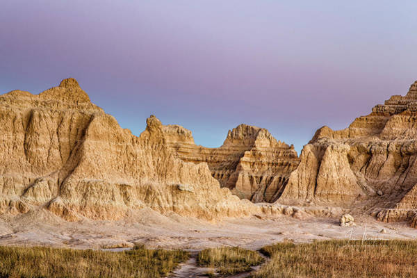 Photograph - magenta Dawn in the Badlands  by Jim Thompson