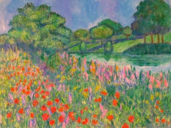 Painting - Magenta Field by Kendall Kessler