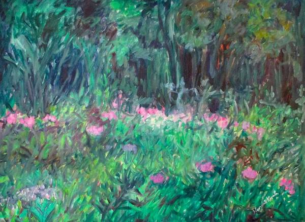 Painting - Winding Magenta Stage One by Kendall Kessler