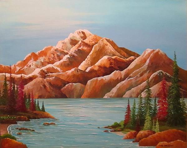 Wall Art - Painting - Magestic Mountains by Carol Sabo