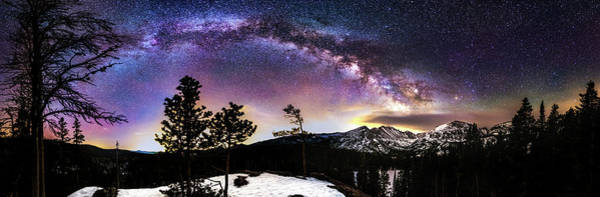Magic Above Rocky Mountain National Park Art Print