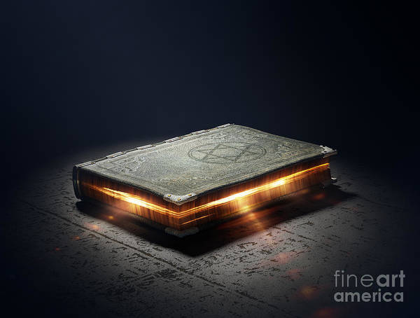 Mystery Digital Art - Magic Book With Super Powers - 3d by Johan Swanepoel